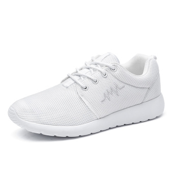 Couple's Plus-sized men's running shoes men's shoes sports shoes (White)