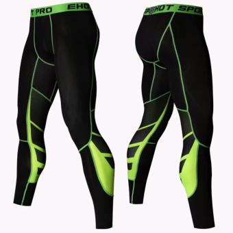 Elite Pro Combat Compression Tights Long Pants (Yellow)