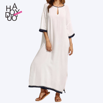 Haoduoyi European and American tassel New style fork even clothingdress