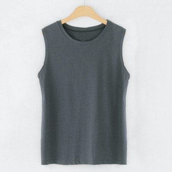 Korean-style cotton long section loose Top T-shirt (In the ash) (In the ash)