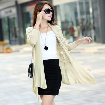 Korean-style New style hollow long-sleeved sweater sun protectionclothing