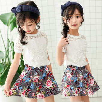 Korean-style New style hollow short-sleeved children's clothing