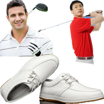 Leather white non-slip waterproof GOLF sports shoes GOLF shoes