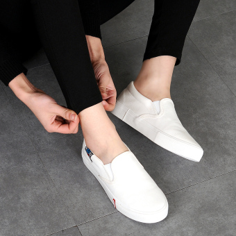 Lok Fu shoes spring Plus-sized shoes (White)
