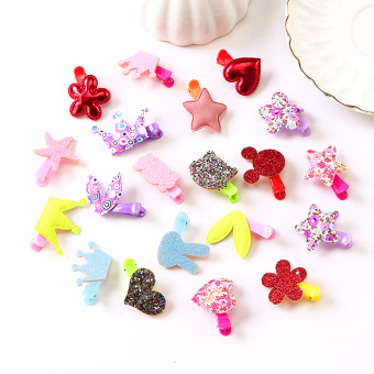 Princess baby hair clip children hairpin (Candy-colored hairpin 20 sets of (3 No))