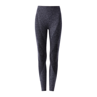 Quick-drying breathable High Elastic slim fit training sports pants yoga pants (FY-128 gray sports pants)