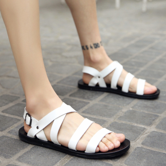 Roman Plus-sized men's sandals (White)