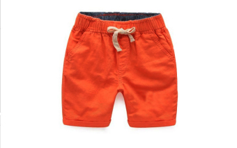Versatile cotton children's shorts (Orange hanni shorts)