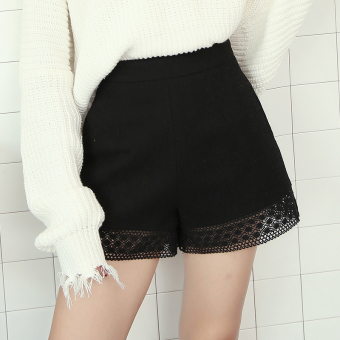 Versatile woolen female student boot pants shorts