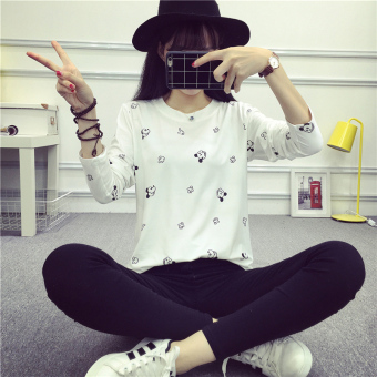 Wild loose spring and autumn New style bottoming shirt T-shirt (993 (Mickey))