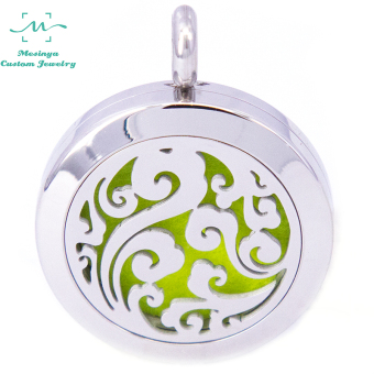 25mm/316l can be stainless steel titanium steel fragrant aromatherapy pendant necklace