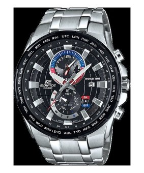 Casio Men's Silver Stainless Steel Strap Watch EFR-550D-1A