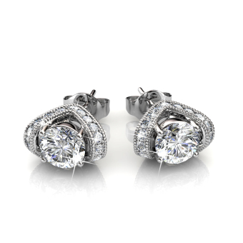 Eve Earrings (White Gold) - Crystals from Swarovski(R)