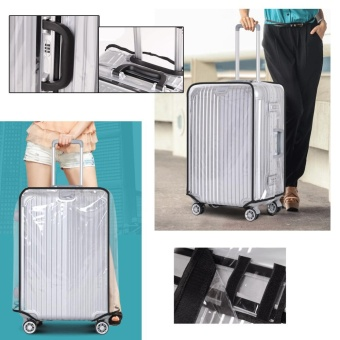 Universal Waterproof Transparent Protective Luggage Suitcase Cover Case Travel - 22 Inch - intl