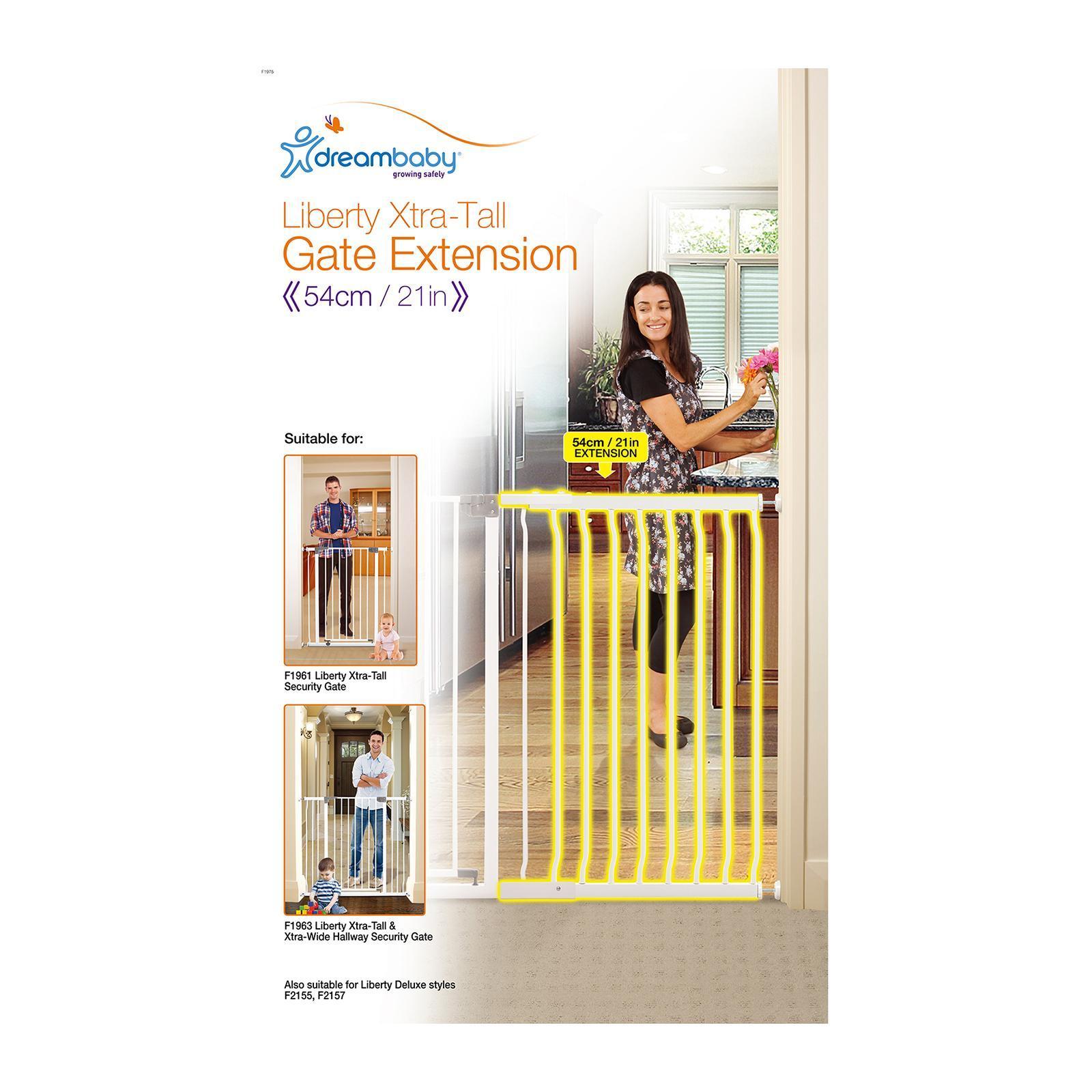 White Dreambaby 45cm Gate Extension
