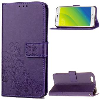 BYT Flower Debossed Leather Flip Cover Case for Oppo A59 / Oppo F1s - intl