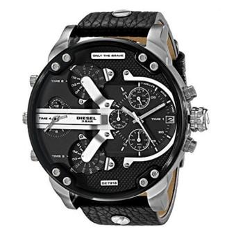 Lazada Fashion & Accessories Deal: 65% off Diesel Luxury Men's Big Dial Black Leather Band Strap Watch(DZ7313) - intl from Diesel