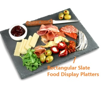 Lazada Home Decor Deal: 87% off Slate Food Display Platters (Rectangular) / Serving Tray/ Natural Stone Plates for Cafe Buffet Dining Japanese style/ Slate Cheese Board from OEM