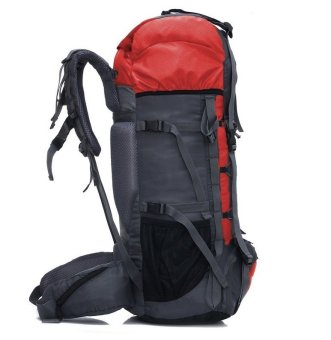 Aeroline 70L Professional Waterproof Mountaineering Backpack (Red)