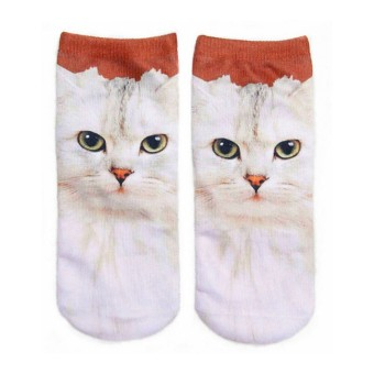 f62df2049ac1ed 3D Printed Animal Women Men Casual Socks Cute Cat Unisex Low Cut Ankle  Socks New