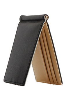 Lazada Fashion & Accessories Deal: 70% off Bluelans Ultra-Thin Magic Money Clip Faux Leather Card Holder Bifold Mini Wallet Coffee from Blue lans
