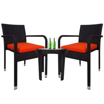 320x191x94 Rect Outdoor Garden Patio Table Desk Chair