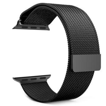Lazada Fashion & Accessories Deal: 50% off Milanese Magnetic Loop Stainless Steel Strap Watch Bands For Apple Watch iWatch 42mm (Black) - Intl from OEM