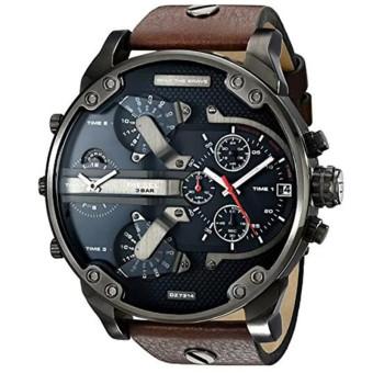 Lazada Fashion & Accessories Deal: 65% off Diesel Luxury Men's Brown Leather Band Strap Watch(DZ7314) from Diesel