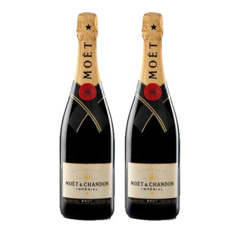 Lazada Food & Drink Deal: 38% off [Duo Pack offer] Moet & Chandon Imperial Brut NV 75cl x 2 from Moet & Chandon