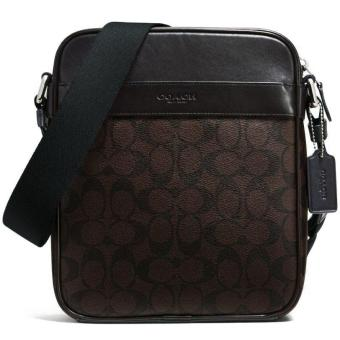 632bc4fec8 ... czech coach flight bag in signature crossbody bag men crossbody bag  mahogany brown f54788 . 6dc3c