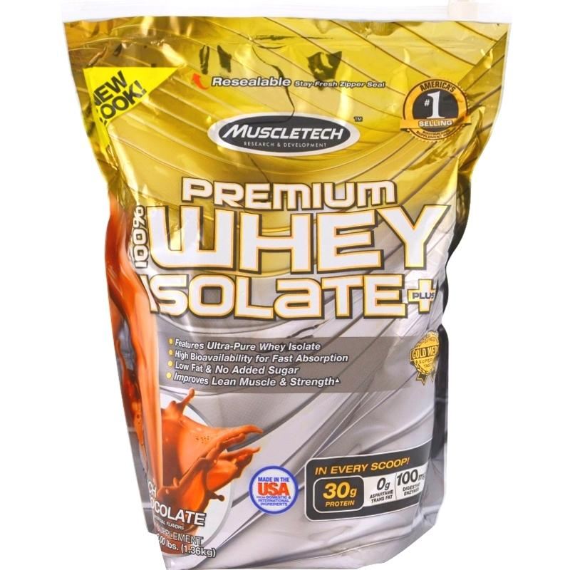 MuscleTech Premium Whey Isolate Plus 3 lb Rich Chocolate