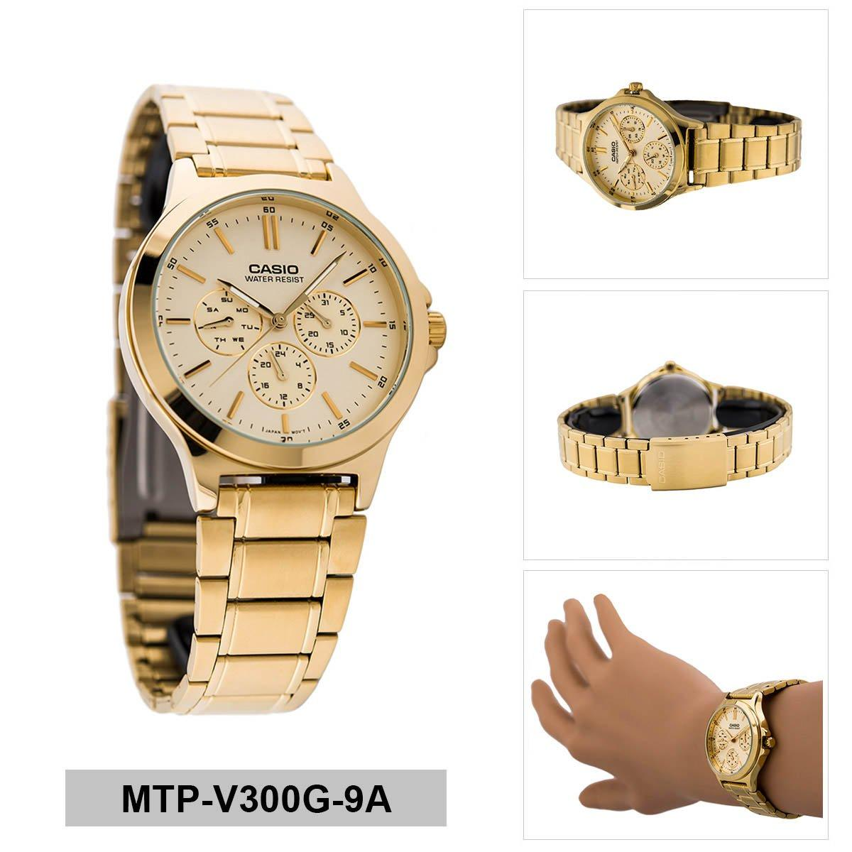 Check For Price Of Casio Mens Standard Analog Gold Stainless Steel Ltp 1314d 5a Pink Watch Case Bracelet Mtp V300g