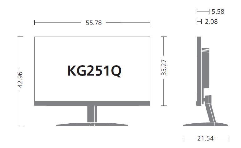 ACER KG251Q dimensions