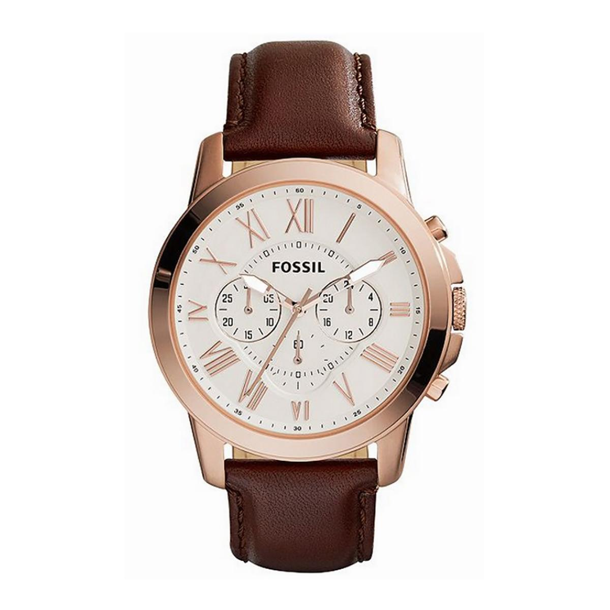 Affordable Fossil Ladies Stainless Steel Strap Watch Ch2977 Grant Chronograph Brown Case Leather Mens Fs4991