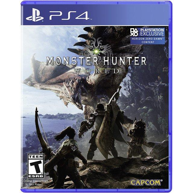 PS4 Monster Hunter World Standard Edition-US(R1)