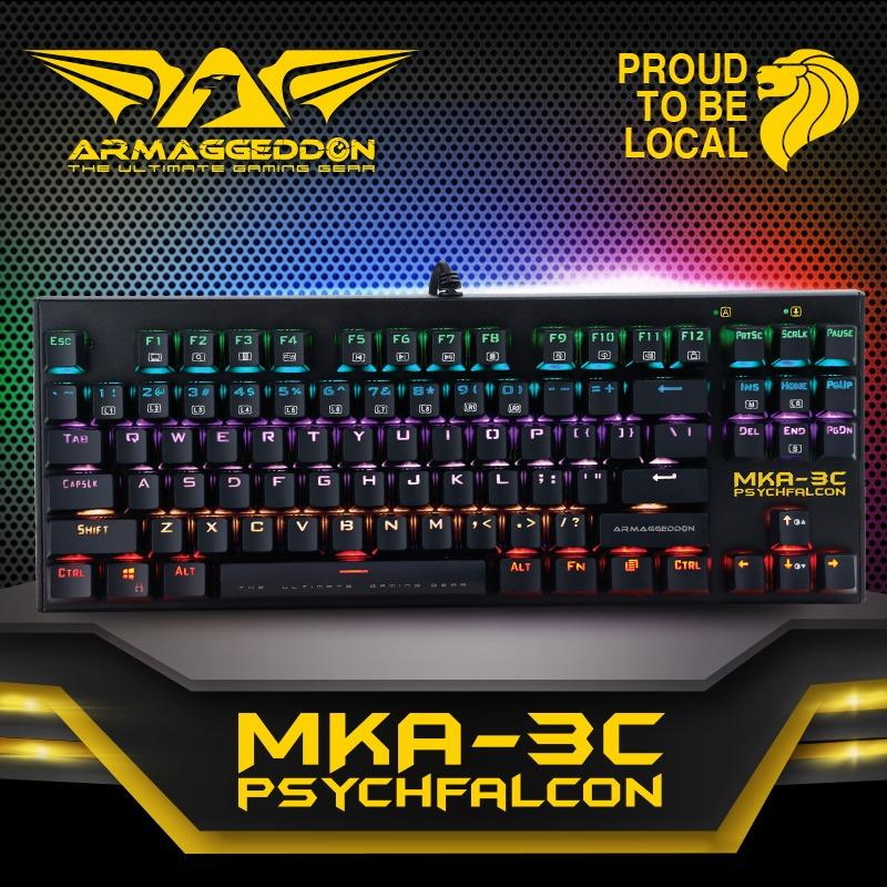 Armaggeddon MKA-3C psychfalcon Mechanical keyboard with kevlar keycaps(Blue Switched) Singapore