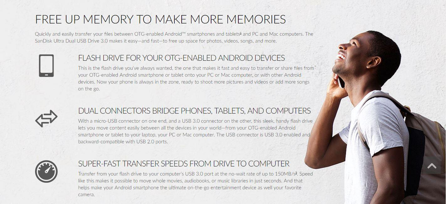 Sandisk Ultra Dual Usb Drive 30 Otg 32gb 130mb S Singapore Specifications Of