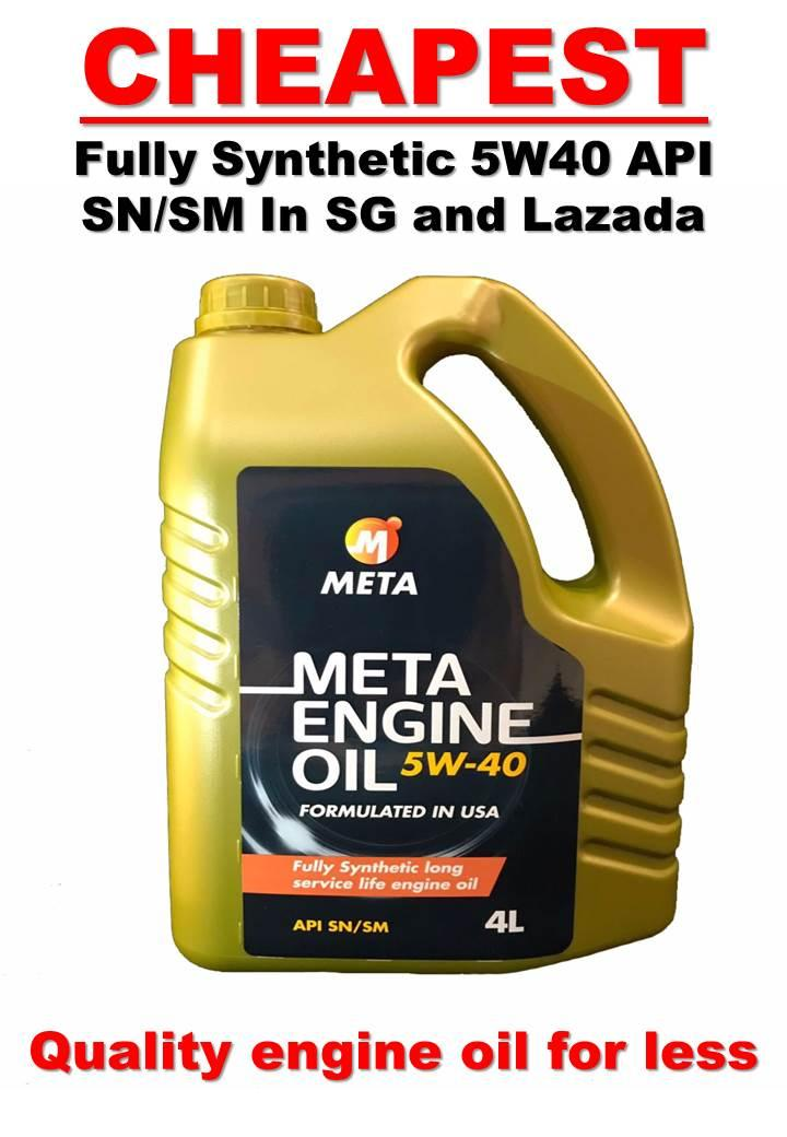 Cheapest Engine Oil in SG and Lazada! 4L Meta Engine Oil Fully Synthetic SAE 5W