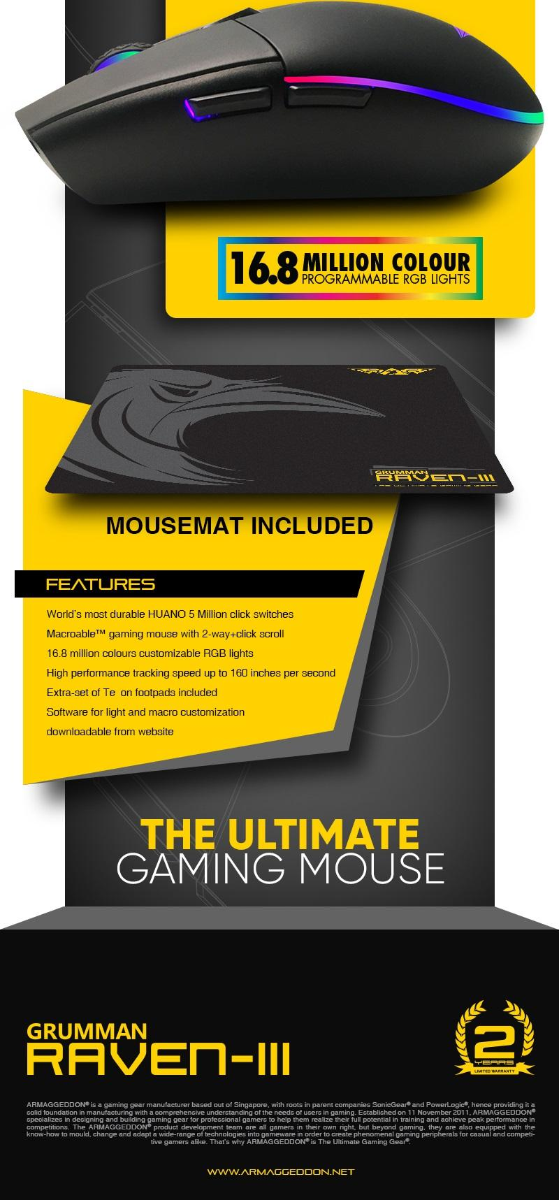 Armaggeddon Gaming Bundle E Sports Pro Kitmouse Keyboard Mousemat Mka 3c Psychfalcon Edm Raven Iii 02