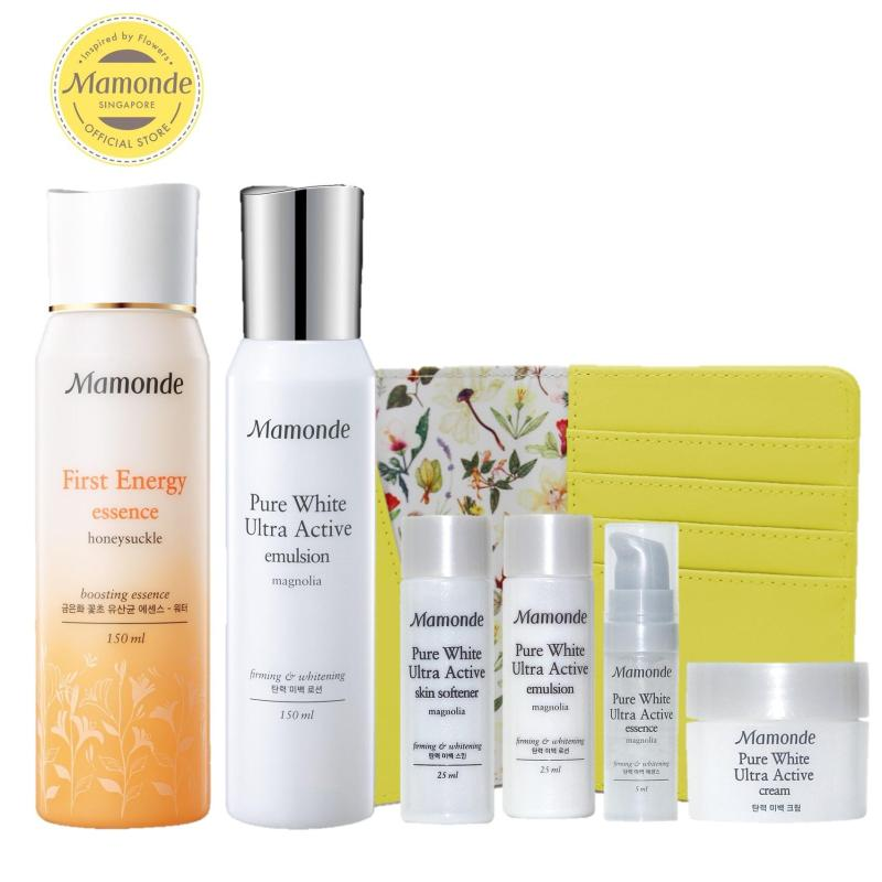 Buy Mamonde First Energy Essence & Pure White Ultra Active Emulsion Set - Exclusive Singapore