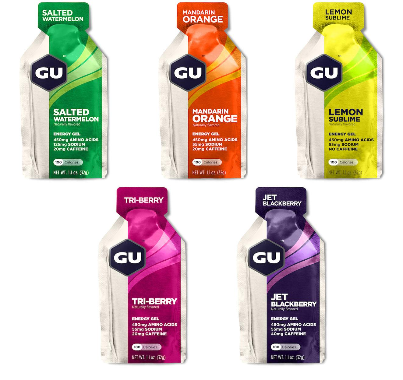 GU Energy Gel Fruity Mixed 24 Pack With Free Gift