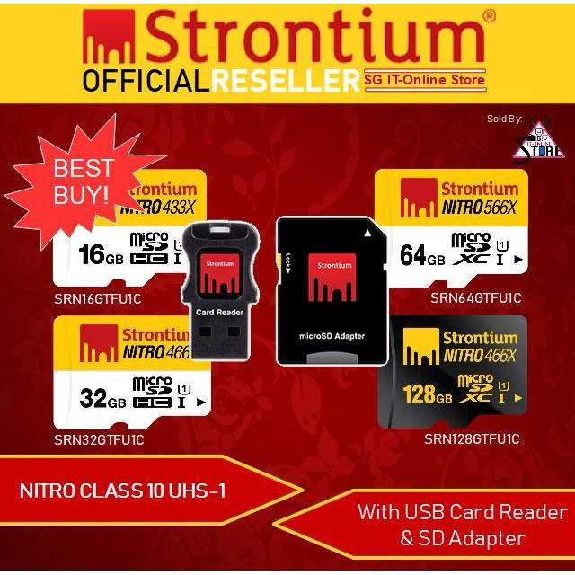Belle Red & Black T Flash To Cf Type1 Compact Flash Memory Cardudma Source · STRONTIUM
