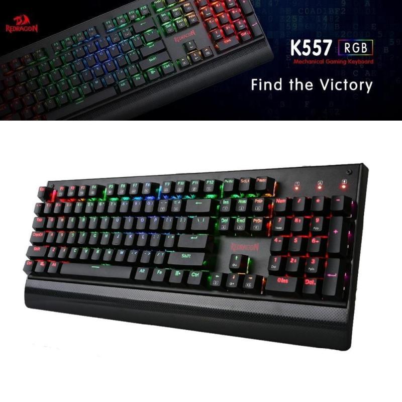 Redragon K557 KALA RGB Backlit Waterproof Mechanical Gaming Keyboard with Blue Switches, Anti-ghosting 104 Keys Singapore