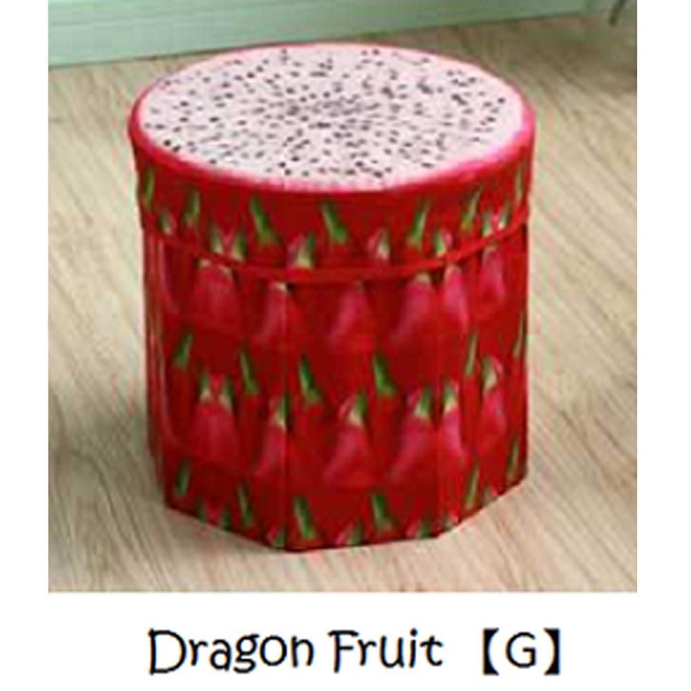 Fruits Round Foldable Storage Stools ( 30Cm )