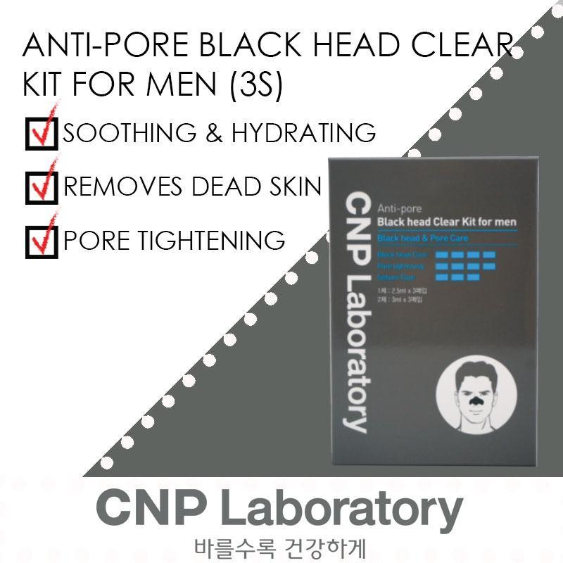 Buy CNP Laboratory Men's Anti-Pore Black Head Clear Kit 3 Sets Singapore