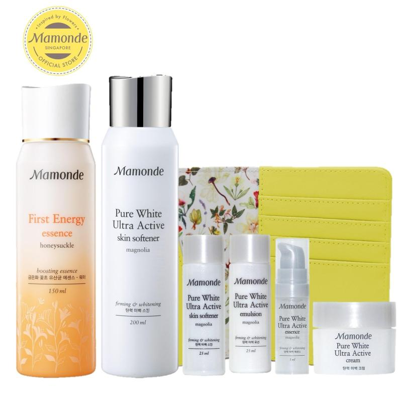 Buy Mamonde First Energy Essence & Pure White Ultra Active Skin Softener Set - Exclusive Singapore