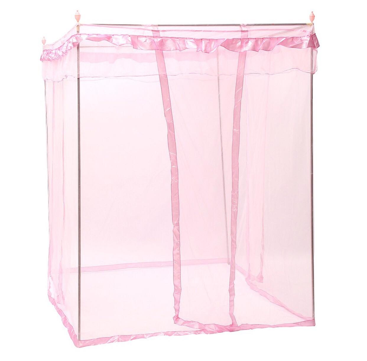 Mosquito net with metal bar - pink