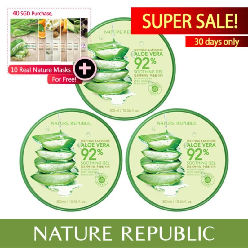 Buy Nature Republic Soothing & Moisture Aloe Vera 92% Soothing Gel (X3) Singapore