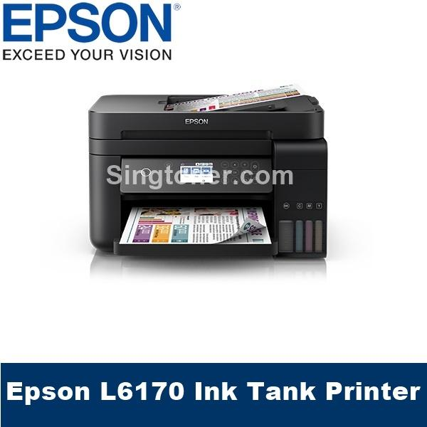 [Singapore Warranty] Epson L6170 Wi-Fi Duplex All-in-One Ink Tank Printer  with ADF Epson 6170 L 6170 Singapore