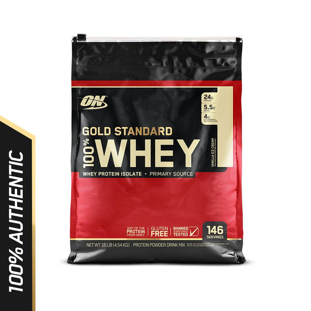 Optimum Nutrition Gold Standard Whey 10 lbs - Vanilla Ice Cream